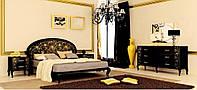 Спальня Піонія глянець чорний-золото МіроМарк /Pionia MiroMark/ Спальный гарнитур Пиония МироМарк