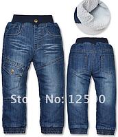 Тёплые джинсы на меху для мальчика и девочки на 2-3 года рост 86-95см