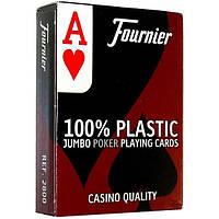 Пластиковые игральные карты Fournier Standard красные (35180)