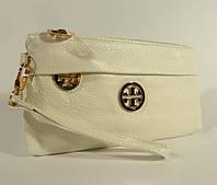 Кошелек-клатч кожаный Tory Burch 1903 белый, расцветки в наличии