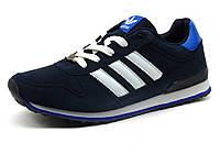 Кроссовки Adidas Classic мужские, нубук, темно-синие, фото 1