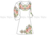Заготовка женского платья для вышивки бисером «Пышные Розы»