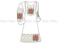Заготовка женского платья для вышивки бисером «Роза в росе»