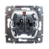 Выключатель 10АХ, 250В 2-клавишный Legrand Galea Life (775805)