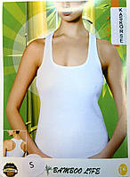 Бамбуковая женская майка Mariposa белая