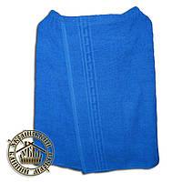 Парео банное махровое (140*70см) синее
