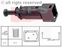 Включатель заднего стоп-сигнала (чёрный) на Renault Trafic  2001-> — EPS (Италия) - 1.810.148