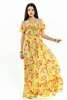 Платье Шелк с красными цветами