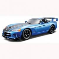 Авто конструктор dodge viper SRT10 acr 2008 голубой металлик 1:24