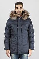 Удлиненные стильные зимние куртки на синтепоне с богатым мехом