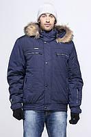 Зимние курточки темно-серого цвета, с капюшоном, мех енот опушка