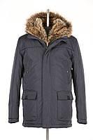 Богатая мужская зимняя куртка с мехом енота внутри капюшона