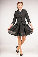 Пиджак школьный для девочки ТМ Фея Арт.П-70
