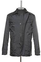 Классическая демисезонная куртка с отложным воротничком черного цвета