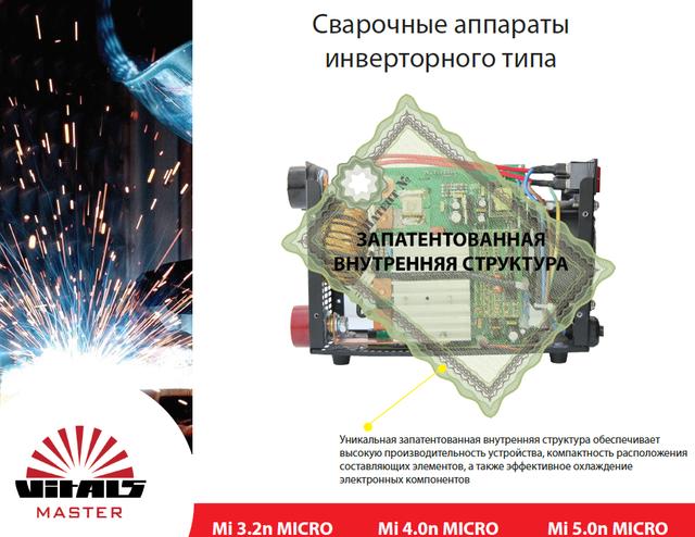 Инверторная сварка Vitals Master Mi 4.0n Micro