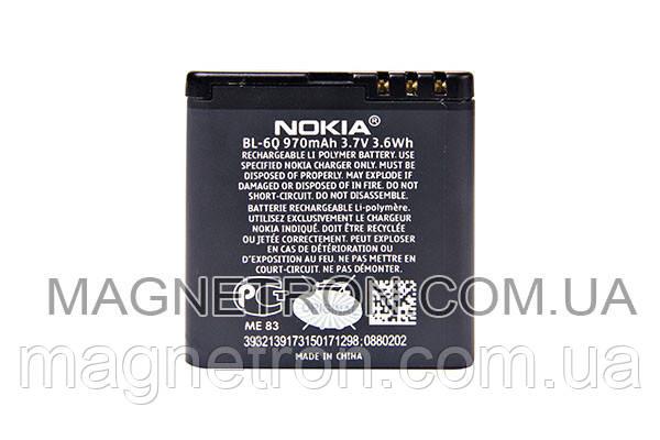 Аккумуляторная батарея BL-6Q Li-Polymer для мобильных телефонов Nokia 970mAh, фото 2