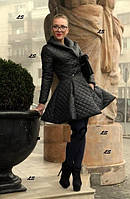 Женское пышное пальто плащевка стеганая на синтепоне 0872