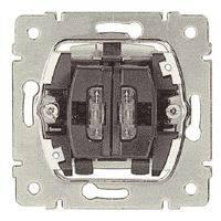 Выключатель с подсветкой 10АХ, 250В 2-клавишный Legrand Galea Life (775825)