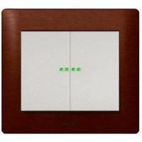 Выключатель (с индикацией) 10АХ, 250В 2-клавишный Legrand Galea Life (775869)