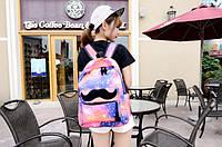 Стильный рюкзак космос. Модный школьный рюкзак. Недорогой рюкзак. Интернет магазин. Код: КСММ6