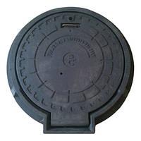 """Люк """"Магнат"""" полимерный армир. чёрный ЗАМОК (15 т) р.610/800"""