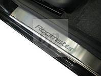 Защитные хром накладки на пороги Skoda roomster (шкода румстер) 2006+