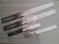 Защитные хром накладки на пороги Skoda octavia tour (шкода октавия тур) 1996-2010
