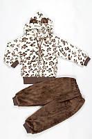 Весенний костюм леопардовый махра