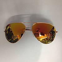 Солнцезащитные очки капли Ray c оранжевыми линзами