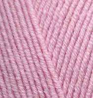 Пряжа для ручного вязания  Alize Lanagold (шерсть+акрил) розовый
