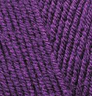 Пряжа для ручного вязания  Alize Lanagold (шерсть+акрил) лиловый