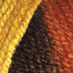 Пряжа для ручного вязания Color Garden YarnArt (шерсть+акрил) желтый-кирпичный-коричневый