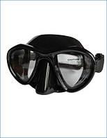 Чёрная маска для дайвера Soprassub Leggera, подводная охота в качественном снаряжении, стекло/силикон