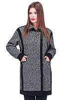 Оригинальное женское пальто прямого кроя, фото 1