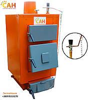 Котел из стали САН Эко мощность 10 кВт с механическим регулятором тяги