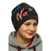 Зимняя детская шапка на флисовой  подкладке No limits