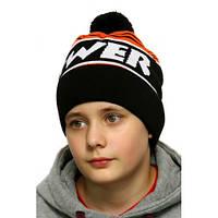 Зимняя детская шапка на флисовой  подкладке Power флис