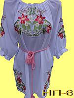Вышиванка женская гладью . Жіноча блузка з вишивкою.