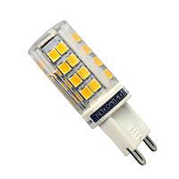 Светодиодная LED лампа G9 5W в паластиковом корпусе с керамическим охлаждением