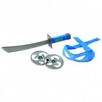 Черепашки ниндзя набор игрушечного оружия боевое снаряжение Леонардо меч и бандана
