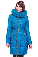 Стильная молодежная удлиненная зимняя курточка с капюшоном, фото 1