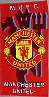 Полотенце пляжное с символикой FC Manchester