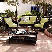 Набор садовой мебели George Home Jakarta Classic Conversation Sofa Set in Olive Green - 4 Piece