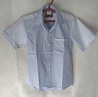 Рубашка школьная для мальчика голубая
