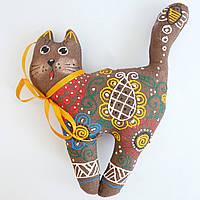 Кошка в бусах. Новогодний сувенир