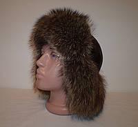 """Зимняя мужская шапка-ушанка """"Енот"""""""