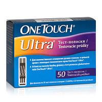 Тест-полоски для глюкометра One touch Ultra, 50шт.