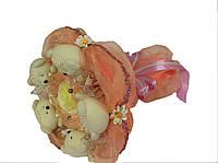 """Букет из игрушек """"Персиковое кружево 2"""""""