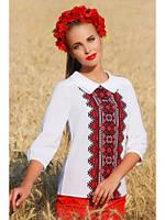 Блуза-Вышиванка Женская Белая Украинский Орнамент