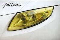 Желтая тонировочная пленка для оптики авто Vissbon